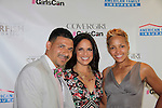 Steve and Laiani Perry pose with Soledad O'Brien at Soledad O'Brien and Brad Raymond Starfish Foundation presents New Orleans to New York City 2014 Gala on July 24, 2014 at Espace, New York City for VIP Cocktail Reception, dinner, entertainment with Grammy Award winning Trumpeteer Irvin Mayfield (also Board president) and the New Orleans Jazz Orchestra. (Photo by Sue Coflin/Max Photos)