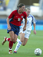 11 August 2004: Abby Wambach in action against Greece at Pankritio Stadium in Heraklio, Greece.. USA defeated Greece, 3-0. Credit: Michael Pimentel / ISI