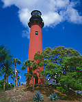 Palm Beach County, FL  <br /> Red tower of the Jupiter Inlet Lighthouse (1860)