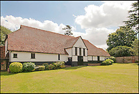 BNPS.co.uk (01202 558833)<br /> Pic: CarterJonas/BNPS<br /> <br /> ***Please Use Full Byline***<br /> <br /> The theatre at Little Easton manor. <br /> <br /> <br /> One of Britain's most historic country houses which boasts a theatre that has played host to Charlie Chaplin and H.G. Wells has gone on the market with a &pound;5 million price tag.<br /> <br /> In the early 1900s the sprawling estate's tithe barn was transformed into a theatre in which the great and the good of the acting world flocked to perform.<br /> <br /> Edwardian actress Ellen Terry gave poetry readings there while War of the Worlds author H.G. Wells, who lived with his family in a house on the estate, also frequented the theatre.<br /> <br /> Other regular performers included Charlie Chaplin, Gracie Fields and George Formby.<br /> <br /> In more recent years it has welcomed famous faces such as Rowan Atkinson, Bill Cotton, Tim Rice, Esther Rantzen and even the cast of Eastenders.<br /> <br /> The 17th century Grade II listed manor is on the market with Carter Jonas estate agents for &pound;5 million.