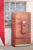 Old Coke machine at The Bent Door Midway Station in Adrian Texas, the midway point on Route 66.  In the early 1960 this was known as Tommy's Cafe.  The bent door and some windows were salvaged from an airport control tower.