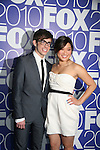 Kevin McHale & Jenna Ushkowitz star in GLEE as they attends the FOX 2010 Programming Presentation (Upfronts) Post-Party on May 18, 2010 at Wollman Rink in Central Park, New York City, New York.  (Photo by Sue Coflin/Max Photos)