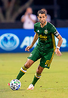 13th July 2020, Orlando, Florida, USA;  Portland Timbers midfielder Diego Valeri (8) looks to pass the ball during the MLS Is Back Tournament between the LA Galaxy versus Portland Timbers on July 13, 2020 at the ESPN Wide World of Sports, Orlando FL.