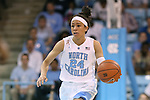 02 March 2014: North Carolina's Jessica Washington. The University of North Carolina Tar Heels played the Duke University Blue Devils in an NCAA Division I women's basketball game at Carmichael Arena in Chapel Hill, North Carolina. UNC won the game 64-60.