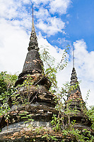 The jungle gradually reclaims this abandoned temple.<br /> (Photo by Matt Considine - Images of Asia Collection)