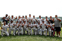 19 August 2012: The Rouen Huskies pose following the 12-8 win over Senart, during game 4 of the French championship finals, in Rouen, France. The Rouen Huskies win their 9th title in 10 years.