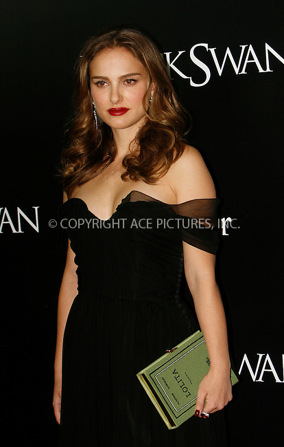 WWW.ACEPIXS.COM . . . . .  ....November 30 2010, New York City....Actress Natalie Portman arriving at the New York Premiere of 'Black Swan' at Ziegfeld Theatre on November 30, 2010 in New York City. ....Please byline: NANCY RIVERA- ACEPIXS.COM.... *** ***..Ace Pictures, Inc:  ..Tel: 646 769 0430..e-mail: info@acepixs.com..web: http://www.acepixs.com