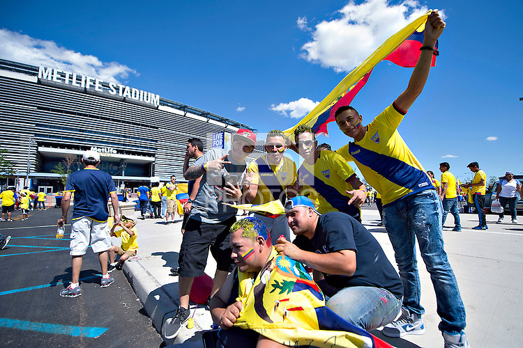 Photo before the match Ecuador vs Haiti, Corresponding to  Group -B- of the America Cup Centenary 2016 at Metlife Stadium.<br /> <br /> Foto previo al partido Ecuador vs Haiti, Correspondiente al Grupo -B- de la Copa America Centenario 2016 en el Estadio Metlife, en la foto: Fans<br /> <br /> <br /> 12/06/2016/MEXSPORT/Javier Ramirez.