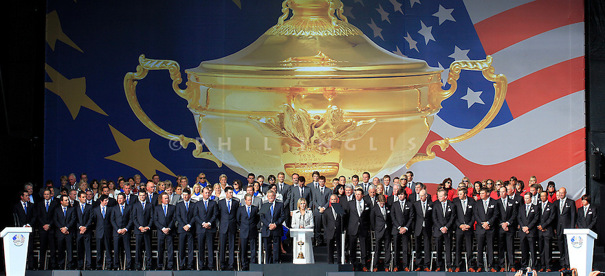 2010 Ryder Cup Matches, Twenty Ten Course, Celtic Manor Resort , City of Newport, Wales. 1- 3 October 2010..Opening Ceremony...© Phil INGLIS