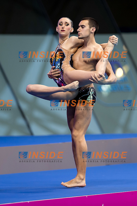 RIBES Pau  FERRERAS Berta  ESP<br /> London, Queen Elizabeth II Olympic Park Pool <br /> LEN 2016 European Aquatics Elite Championships <br /> Mixed duet free<br /> Day 03 11-05-2016<br /> Photo Giorgio Scala/Deepbluemedia/Insidefoto