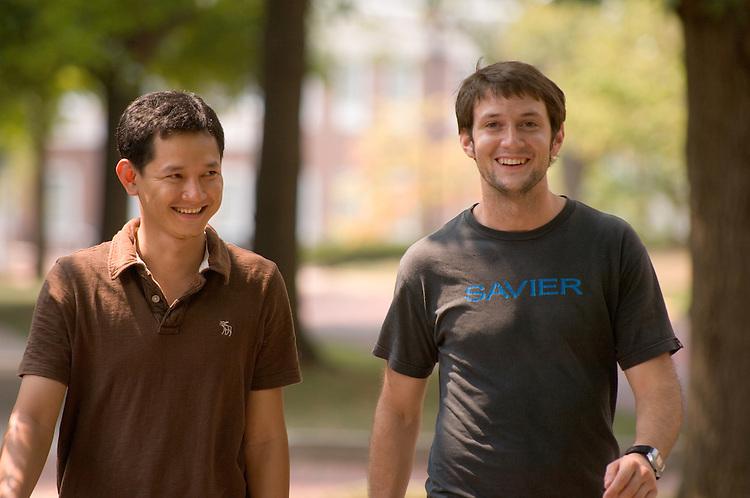 18334 Summer Ohio University..Khemra Thy from Cambodia & Matthia Full from Germany are Fulbright Scholars.