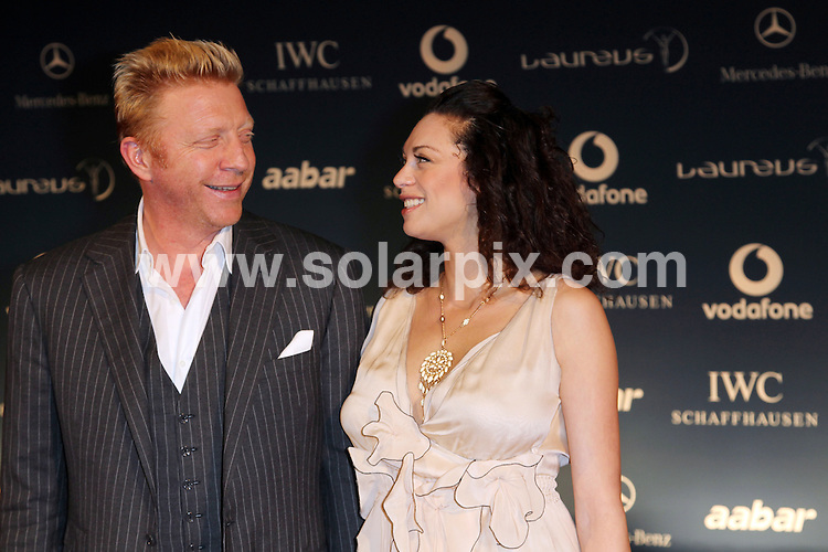 **ALL ROUND PICTURES FROM SOLARPIX.COM**.**SYNDICATION RIGHTS FOR UK AND SPAIN ONLY**.Arrivals at the Laureus World Sport Award in Abu Dhabi, UAE. 10 March 2010..This pic: Boris Becker and Sharlely 'Lilly' Kerssenberg..JOB REF:  10889 CPR Langbehn  DATE: 10_03_2010.**MUST CREDIT SOLARPIX.COM OR DOUBLE FEE WILL BE CHARGED**.**MUST NOTIFY SOLARPIX OF ONLINE USAGE**.**CALL US ON: +34 952 811 768 or LOW RATE FROM UK 0844 617 7637**