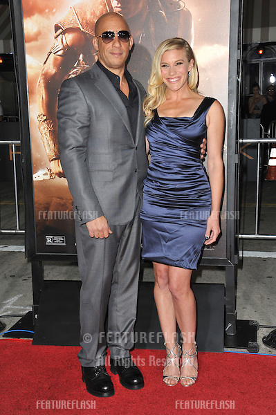 Vin Diesel &amp; Katee Sackhoff at the world premiere of their movie &quot;Riddick&quot; at the Regency Village Theatre, Westwood.<br /> August 28, 2013  Los Angeles, CA<br /> Picture: Paul Smith / Featureflash