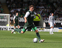 Gary Deegan in the St Mirren v Hibernian Clydesdale Bank Scottish Premier League match played at St Mirren Park, Paisley on 18.8.12.