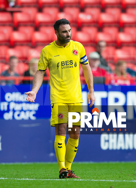 Fleetwood Town Craig Morgan during the Sky Bet League 1 match between Charlton Athletic and Fleetwood Town at The Valley, London, England on 25 August 2018. Photo by Andrew Aleksiejczuk / PRiME Media Images.