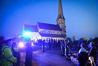 2020 04 24 Memorial for paramedic gerallt Davies killed by Covid-19, Pontardawe, Wales, UK