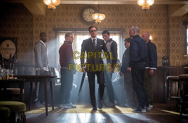 Colin Firth<br /> in Kingsman: The Secret Service (2015) <br /> *Filmstill - Editorial Use Only*<br /> CAP/FB<br /> Image supplied by Capital Pictures