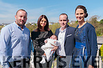 Baby Fionn Devli with his parents Noelle & Noel Devlin, Knockanure and god parents Paddy Devlin & Sandra Clancywho was  christened in Knockanure Church by Fr. Kevin Mcnamara on Sturday last and afterwards at the Listowel Arms Hotel.