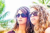 Dezree MacDonough and Karlee Schlief poolside at Vanderbilt Beach Resort in Naples, wearing F & S Sunglasses, fssunglasses.com, Fort Myers Beach, July 27, 2012. Photo by Debi Pittman Wilkey/Coastal Life Magazine.
