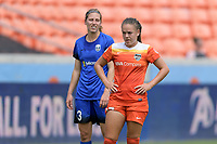 Houston, TX - Saturday May 27, 2017: Andressa waits for a corner kick during a regular season National Women's Soccer League (NWSL) match between the Houston Dash and the Seattle Reign FC at BBVA Compass Stadium.