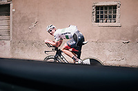 Ryan Mullen (IRL/Trek-Segafredo) checking out the iTT-course of the 16th stage on the restday<br /> <br /> 3rd Giro restday <br /> 101th Giro d'Italia 2018