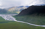 Rainbow over Canning River Delta, Arctic National Wildlife Refuge, Alaska