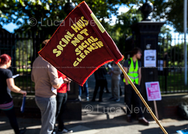 &quot;Social Housing Not Social Cleansing&quot;.<br />