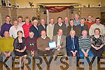 RETIREMENT: Teddy Harty, Causeway who retired as Chairman from Tralee Mart after 20 years enjoying a great time with family and friends at Tralee Mart Christmas party in Stokers Lodge restaurant and bar on Thursday seated l-r: Philip Healy, Sarah Roche, John Kearney, Brian Walsh, Teddy Harty, Seamus McEnery, John O'Sullivan and Margaret Savage. Back l-r: Aidan Dillon, Barney Dowling Douglas Fitzell, Gerard Collins, John Slattery, James Driscoll, Thomas Healy, Brendan Blackwell, Joe Kearney, John Foley, Dan Shanahan, Simon Leen, Bernard Collins and Gerard McCarthy.
