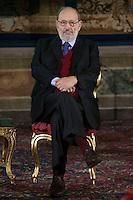 Umberto Eco<br /> Roma 28-11-2014 Quirinale. Incontro 'L'Europa della cultura'.<br /> Meeting Europe of culture at Quirinale<br /> Photo Samantha Zucchi Insidefoto