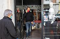Campobasso, Italia: dopo la fase di lockdown il 18 maggio in Italia potranno riaprire le attività commerciali. Per permettere di lavorare in sicurezza si procede alla sanificazione dei locali e delle chiese. <br /> <br /> Campobasso, Italy: after the lockdown phase on 18 May in Italy, commercial activities will be able to reopen. To allow safe work, the premises and churches are sanitized.