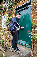 Firefighters delivering leaflets