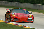 10 August 2007: The Ferrari F430 GT driven by Mika Salo (FIN) and Jaime Melo (BRA) at the Generac 500 at  Road America, Elkhart Lake, WI