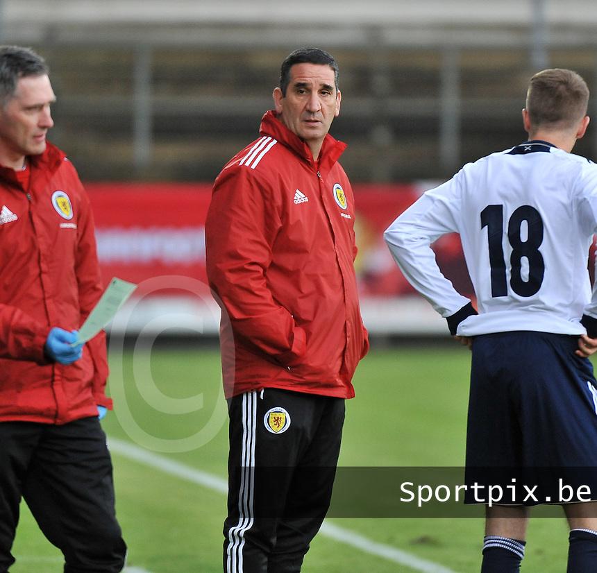 Scotland U19 - Belgium U19 : Richard Sbragia.foto DAVID CATRY / Nikonpro.be