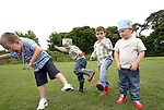 Jamie Campbell, Sam Tierney, Sean Reilly and Alex Woods at the Big Toddle for Barnardos at Donacarney Playing Fields....Photo NEWSFILE/Jenny Matthews.(Photo credit should read Jenny Matthews/NEWSFILE)....This Picture has been sent you under the condtions enclosed by:.Newsfile Ltd..The Studio,.Millmount Abbey,.Drogheda,.Co Meath..Ireland..Tel: +353(0)41-9871240.Fax: +353(0)41-9871260.GSM: +353(0)86-2500958.email: pictures@newsfile.ie.www.newsfile.ie.FTP: 193.120.102.198.