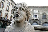 Una fontana in Piazza Vecchia a Bergamo. <br /> A fountain in Piazza Vecchia, Bergamo.<br /> UPDATE IMAGES PRESS/Riccardo De Luca