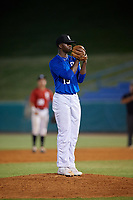Carter Daniels (15) of P27 Academy in Columbia, SC during the Perfect Game National Showcase at Hoover Metropolitan Stadium on June 20, 2020 in Hoover, Alabama. (Mike Janes/Four Seam Images)
