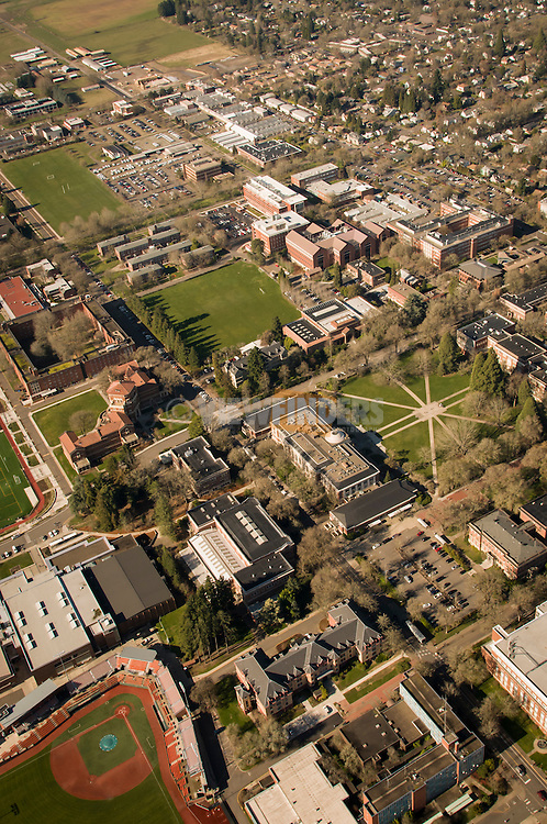 Aerial View of Oregon State University.