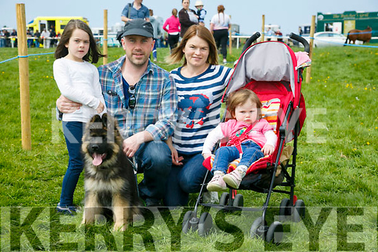 At the Kingdom County Fair in Ballybeggan on Sunday were Holly, Paul, Hannah and Laura Tyther with Hank from Castlemaine
