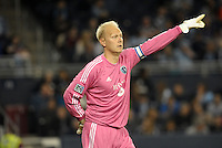 Jimmy  Nielsen goalkeeper Sporting KC..Sporting Kansas City defeated Montreal Impact 2-0 at Sporting Park, Kansas City, Kansas.