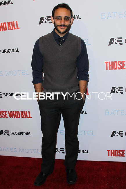 """HOLLYWOOD, LOS ANGELES, CA, USA - FEBRUARY 26: Omid Abtahi at the Premiere Party For A&E's Season 2 Of """"Bates Motel"""" & Series Premiere Of """"Those Who Kill"""" held at Warwick on February 26, 2014 in Hollywood, Los Angeles, California, United States. (Photo by Xavier Collin/Celebrity Monitor)"""