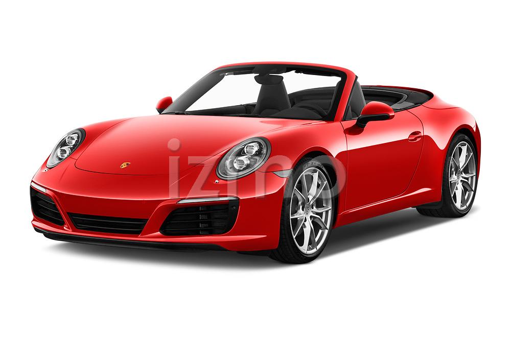 2017 Porsche 911 Carrera 2 Door Convertible angular front stock photos of front three quarter view