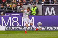Marco Richter (FC Augsburg) - 14.04.2019: Eintracht Frankfurt vs. FC Augsburg, Commerzbank Arena, 29. Spieltag DISCLAIMER: DFL regulations prohibit any use of photographs as image sequences and/or quasi-video.