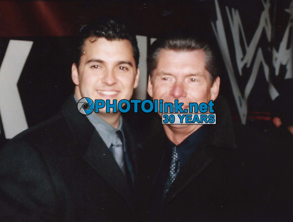 Vince McMahon and son Shane 2000<br /> Photo to By John Barrett-PHOTOlink