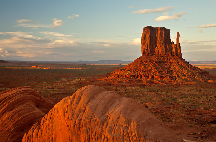 The Left Mitten in Monument Valley Tribal Park, Arizona