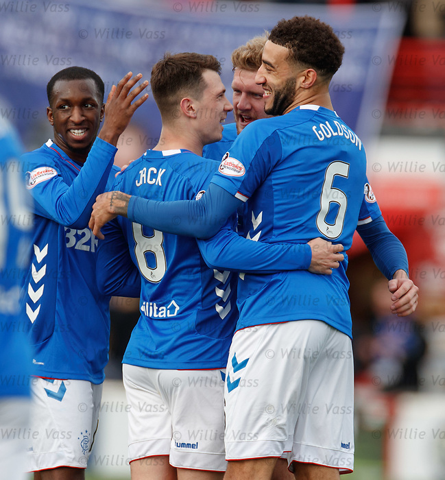 24.02.2019 Hamilton v Rangers: Ryan Jack takes the acclaim as he opens the scoring