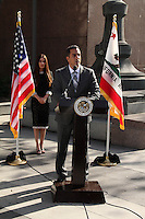 Kerri Kasem, Mike Gatto<br /> at the Kerri Kasem and Mike Gatto Press Conference to announce legislation to protect the rights of children to have access to ailing parents, Los Angeles Superior Court, Los Angeles, CA 02-20-14<br /> David Edwards/DailyCeleb.com 818-249-4998
