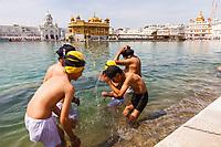 Asia,India,Punjab, Amristar, Golden temple,Palki Sahib where is the Sikh holy book, holy bath