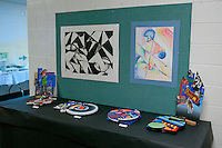 The Harker School - MS - Middle School - Harker MS Art students' work is on display at Harker's Main Office on the Saratoga Campus...Photo by Kyle Cavallaro