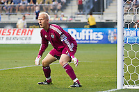Sporting Kansas City goalkeeper Jimmy Nielsen (1). Sporting Kansas City defeated the Philadelphia Union 2-0 during the semifinals of the 2012 Lamar Hunt US Open Cup at PPL Park in Chester, PA, on July 11, 2012.