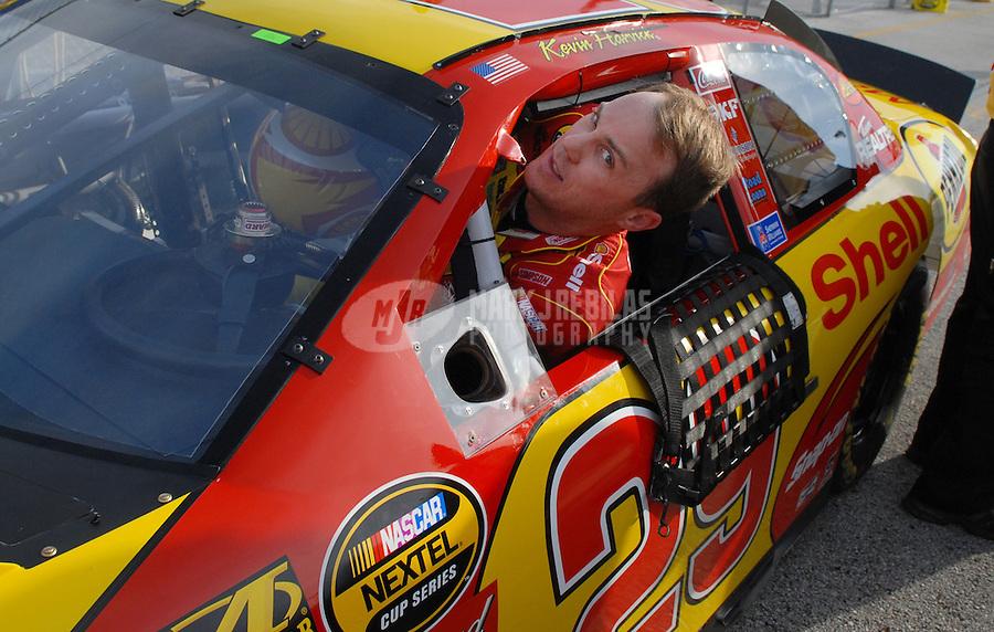 Feb 11, 2007; Daytona, FL, USA; Nascar Nextel Cup driver Kevin Harvick (29) during qualifying for the Daytona 500 at Daytona International Speedway. Mandatory Credit: Mark J. Rebilas